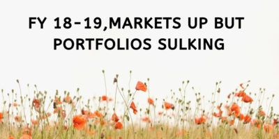 FY 18-19, Markets up but portfolios sulking