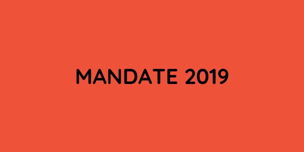 Mandate 2019